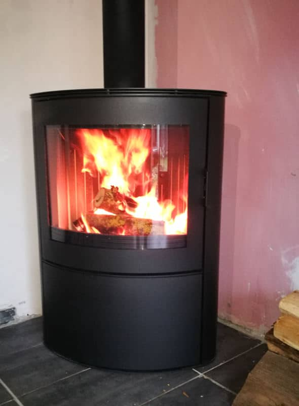 installation d 39 un po le bois branstal celsius xl cap eco confort. Black Bedroom Furniture Sets. Home Design Ideas